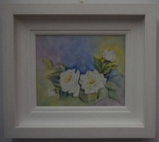 Framed paintings on porcelain tiles
